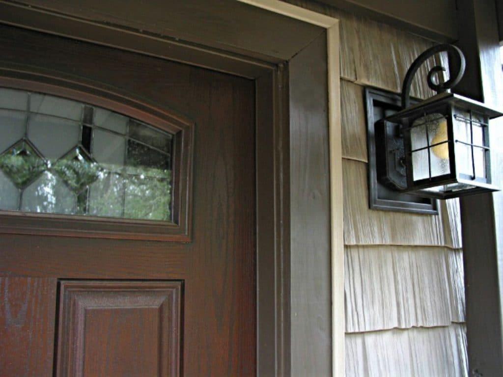 Front porch light by door