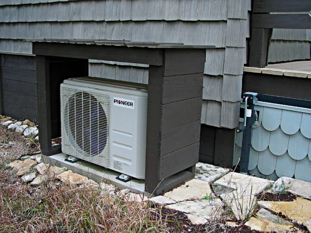 Air condition unit outside house