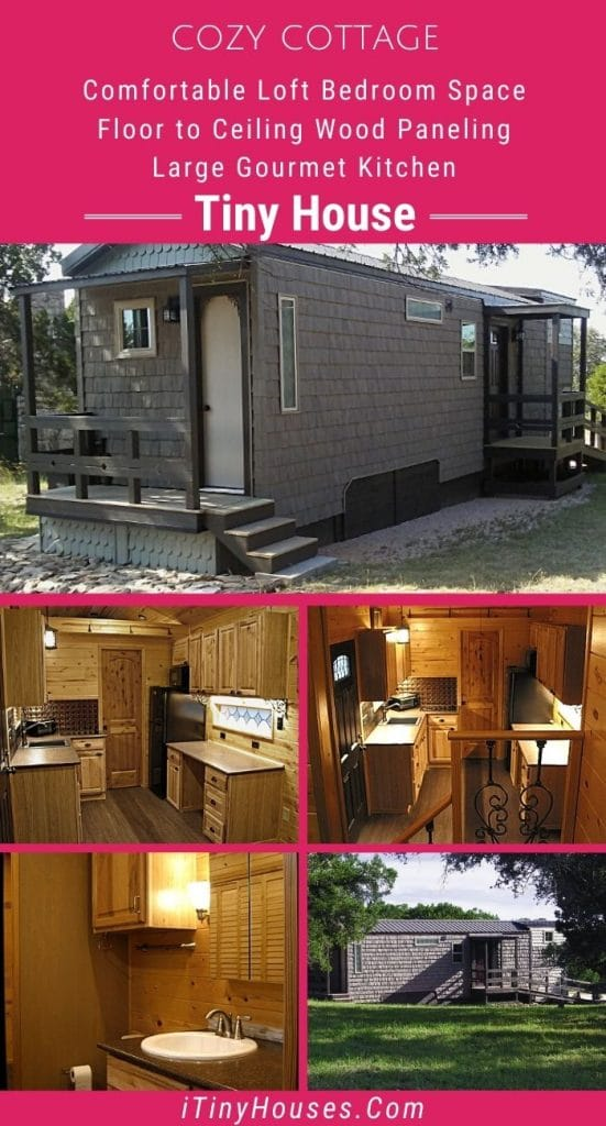 Cozy cottage tiny house collage
