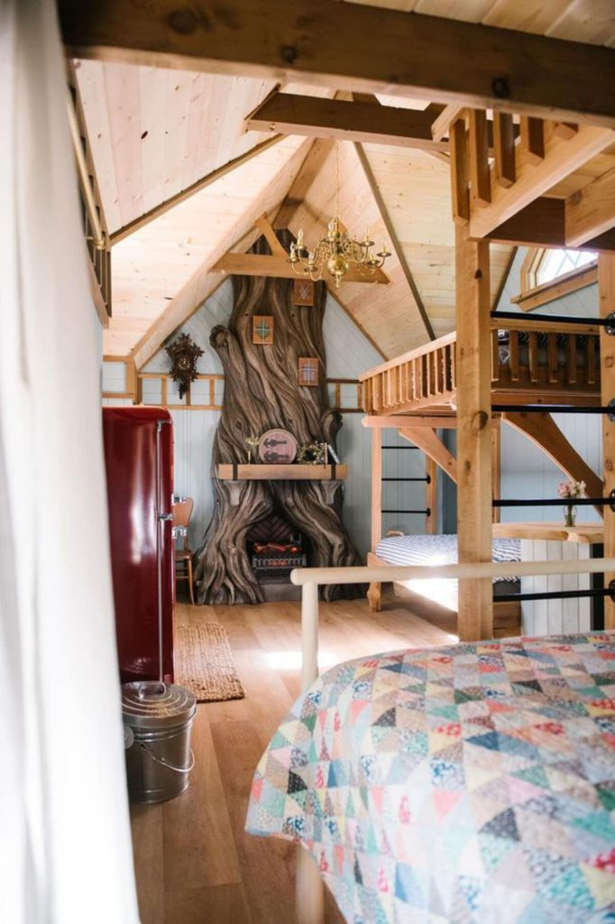 Bunk beds in cottage