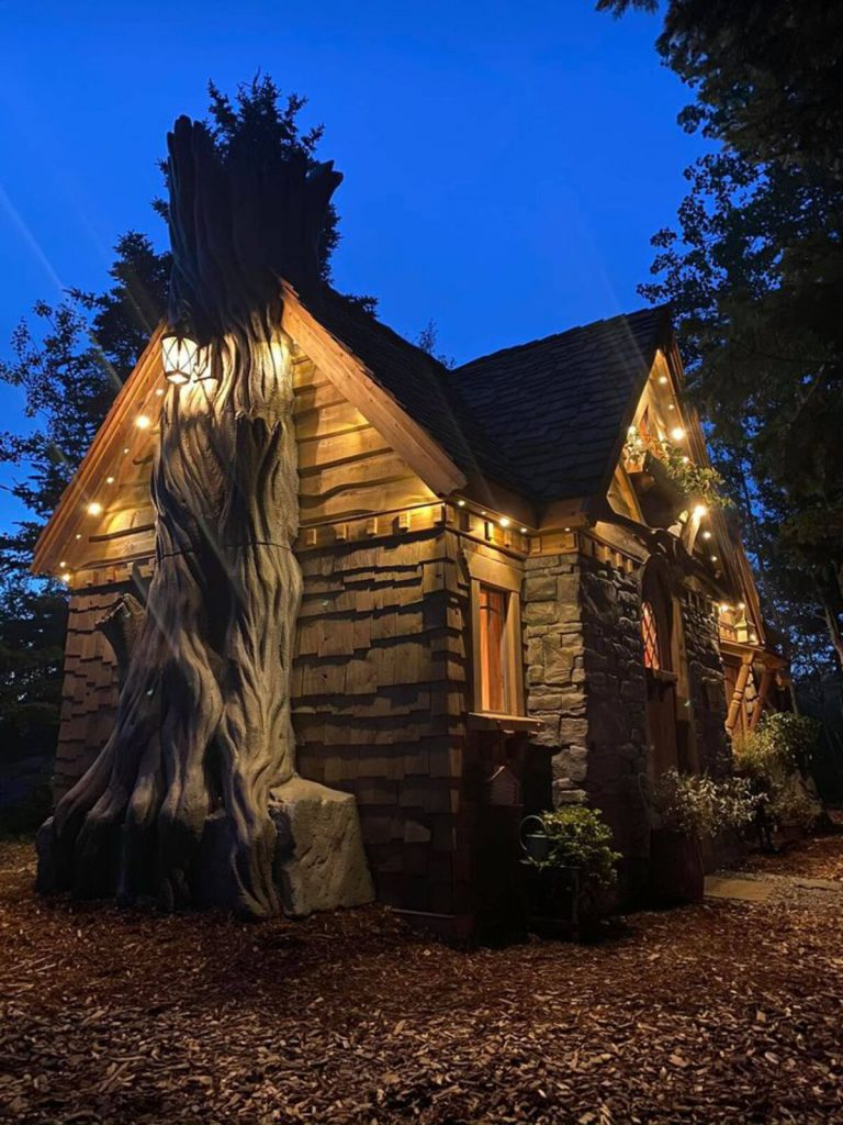 Fairy cottage in dark