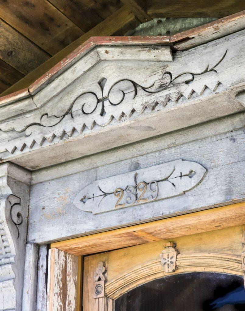 Ornate door header