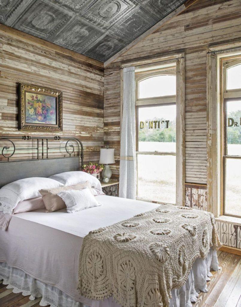 Bedroom by silo windows