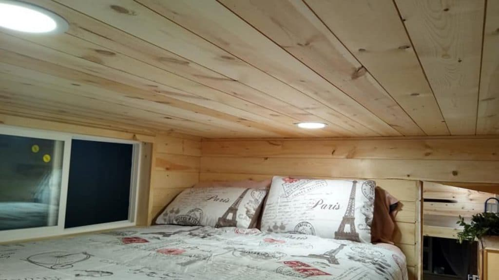 Bed in loft bedroom