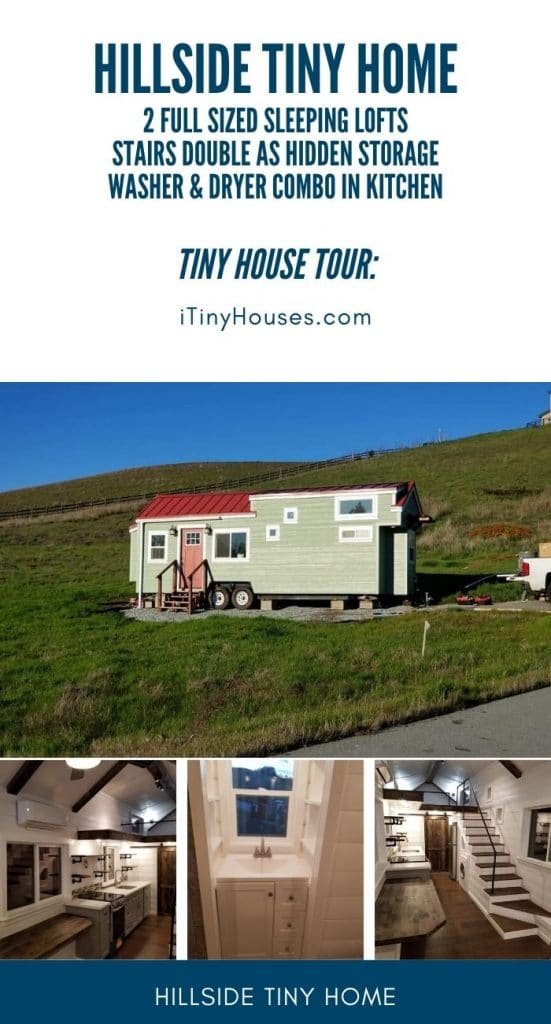 Hillside tiny house collage