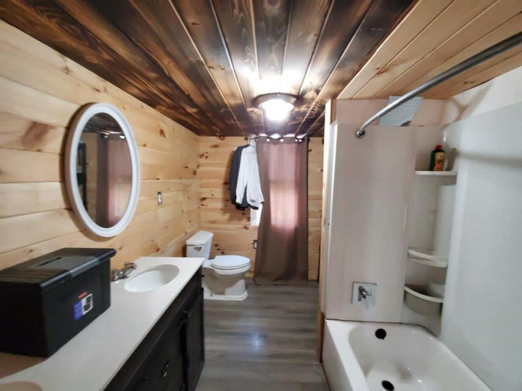 Bathroom of hunting cabin