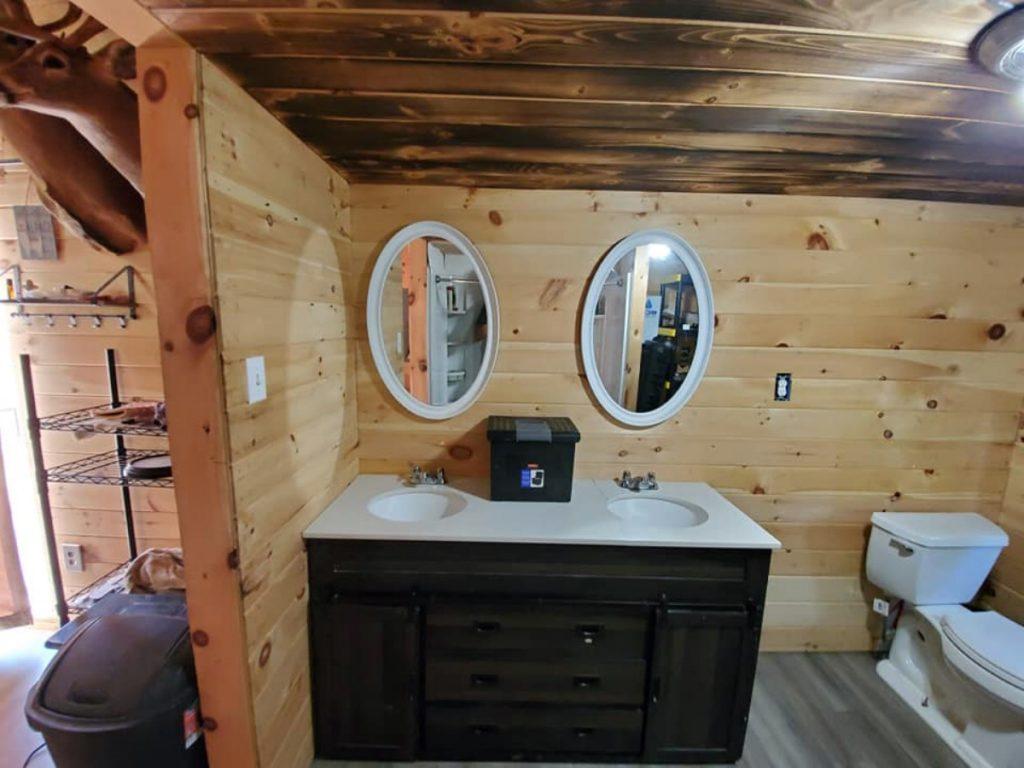 Hunting cabin vanity w