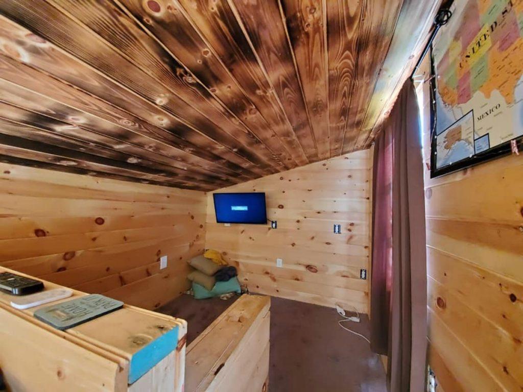 Tiny house loft space