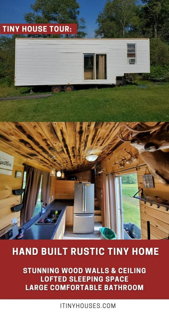 Hunting tiny house on wheels collage