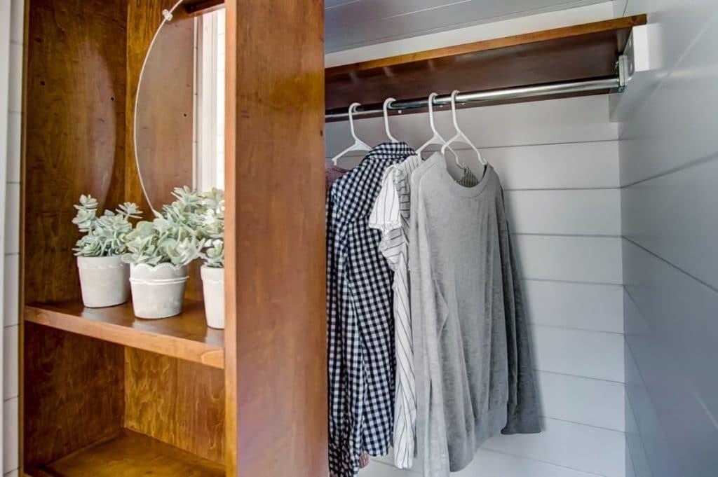 Closet with shirts