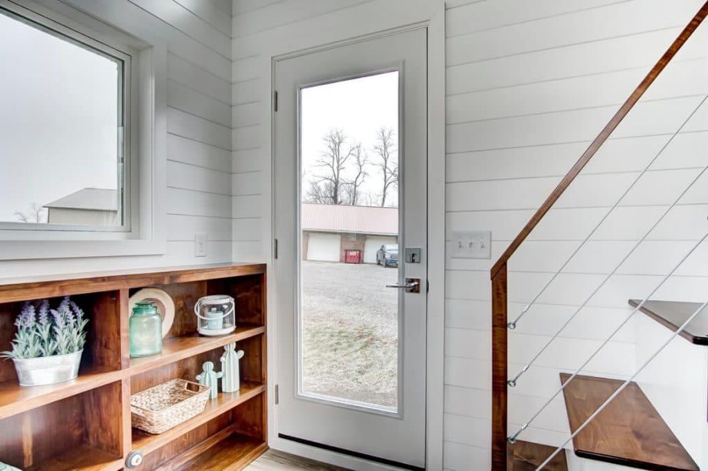 Front door of tiny home