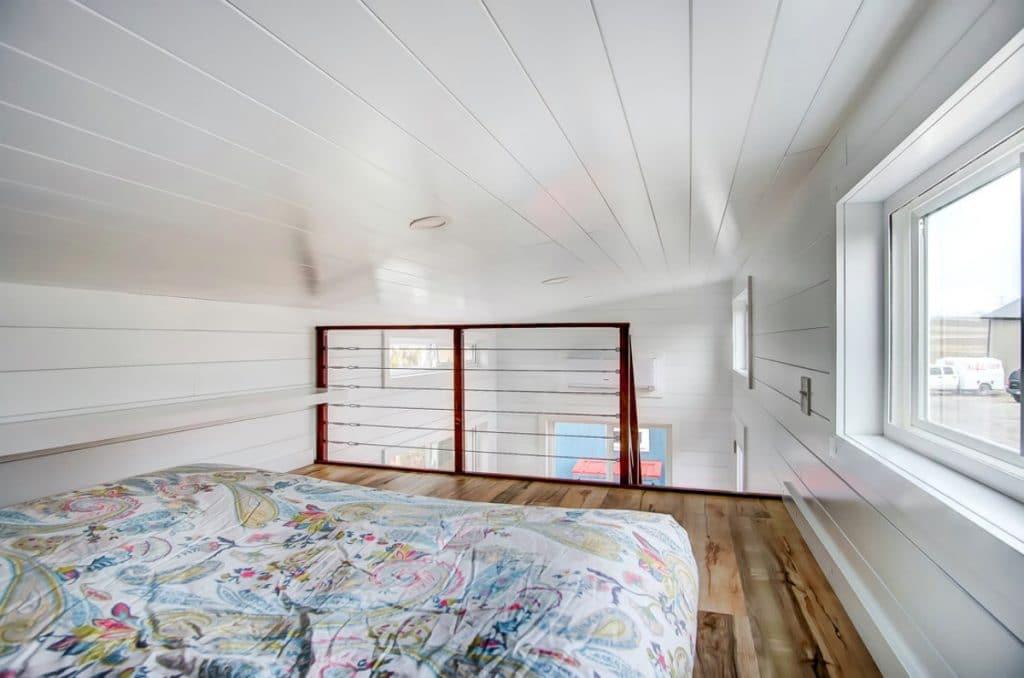 Loft bedroom with rail