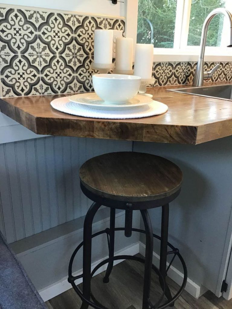Kitchen bar with stool