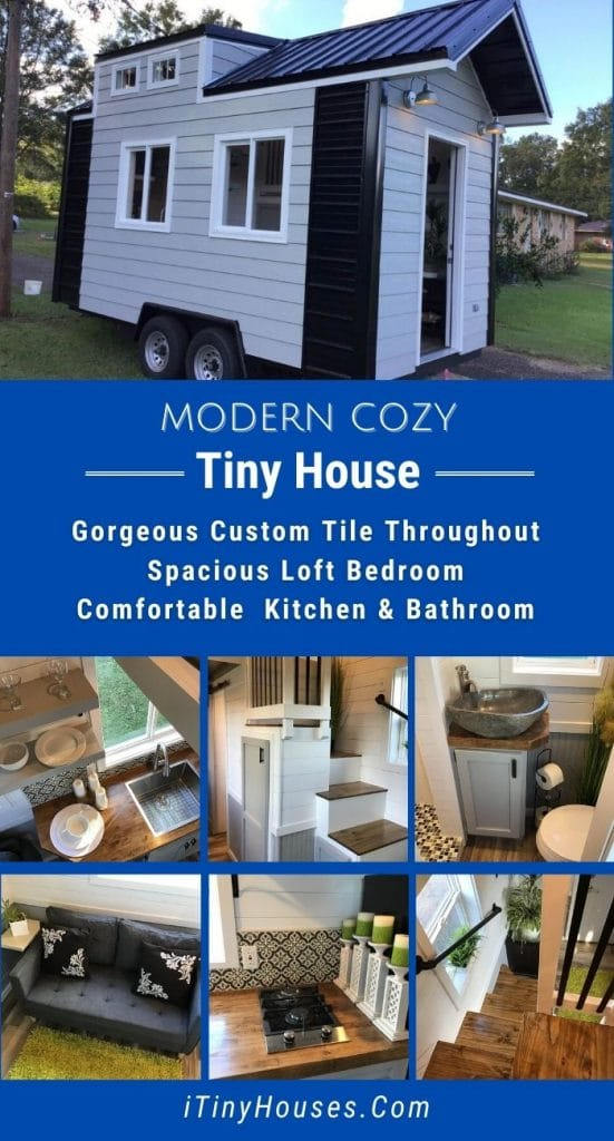 Modern cozy tiny house collage
