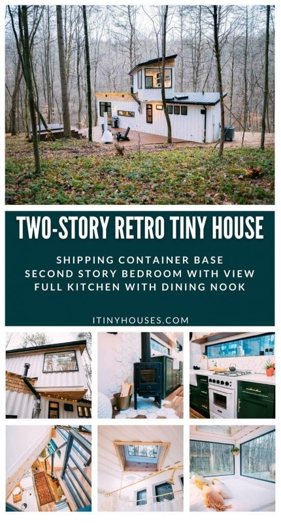 Retro shipping container collage