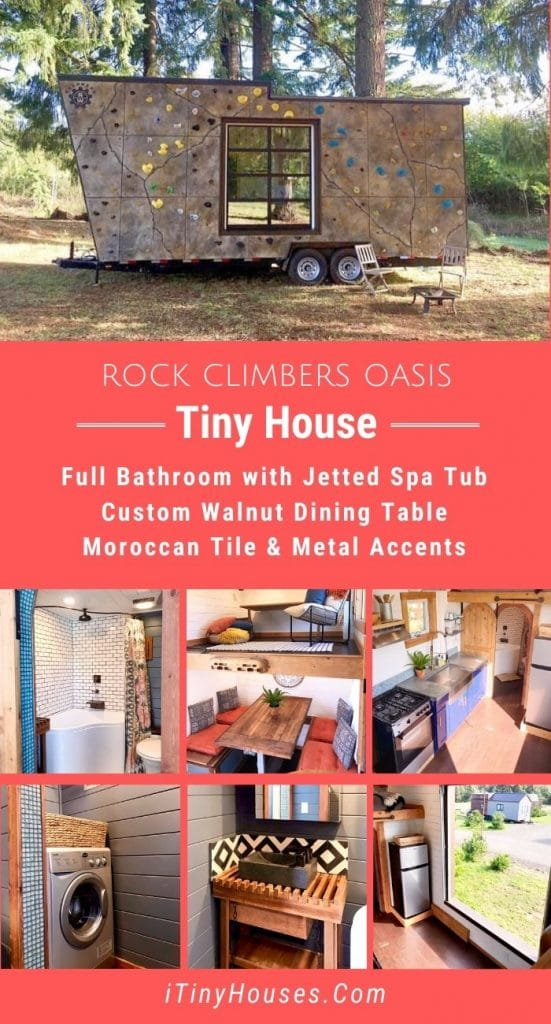 Rock climbers tiny house collage