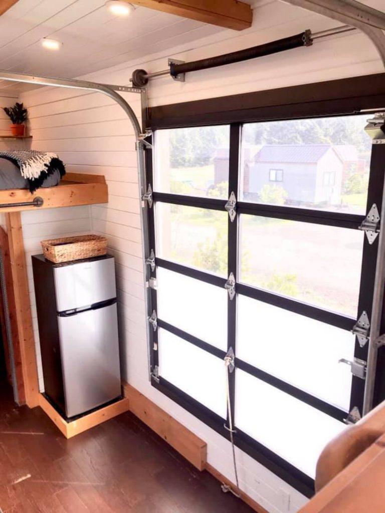 Garage door opening in house