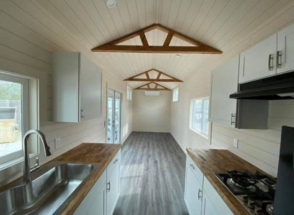 View of living room in tiny home