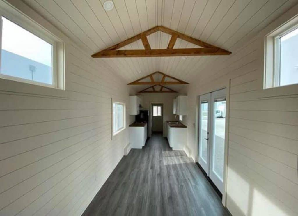 Open white wall tiny home