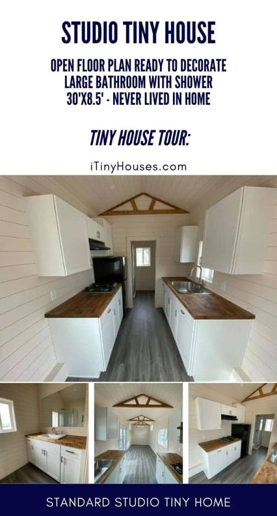 Studio tiny home collage