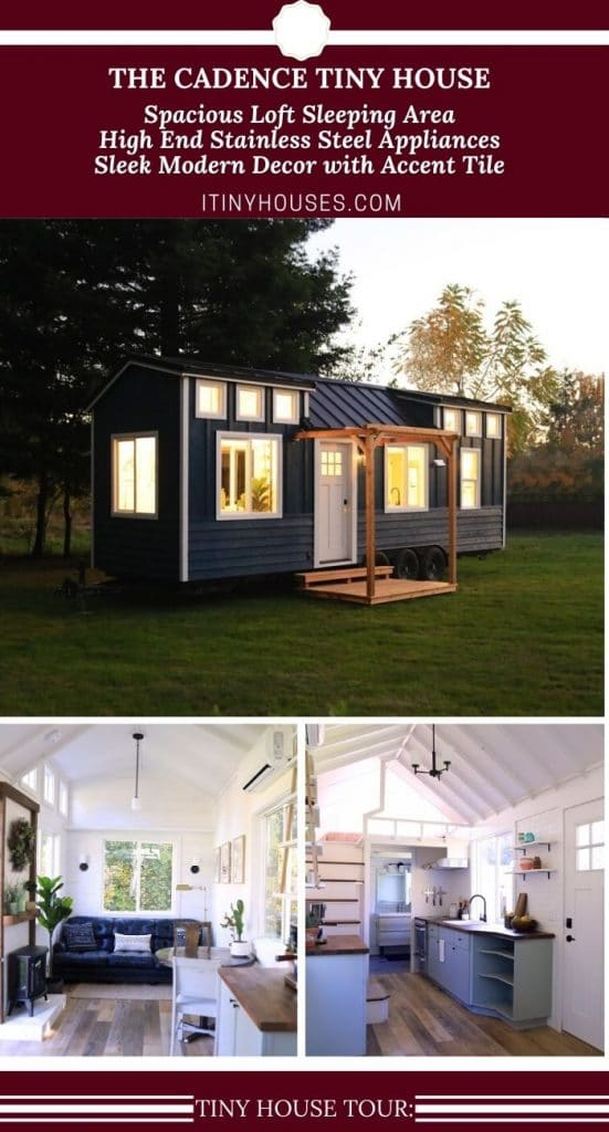 The Cadence tiny home collage