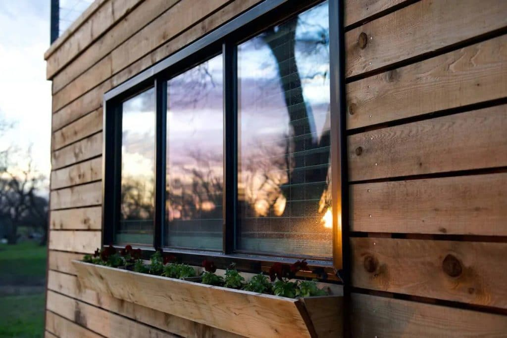 Windows on tiny house