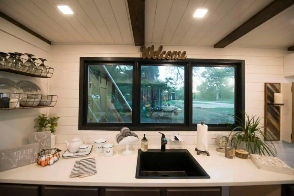 The farmhouse tiny kitchen sink