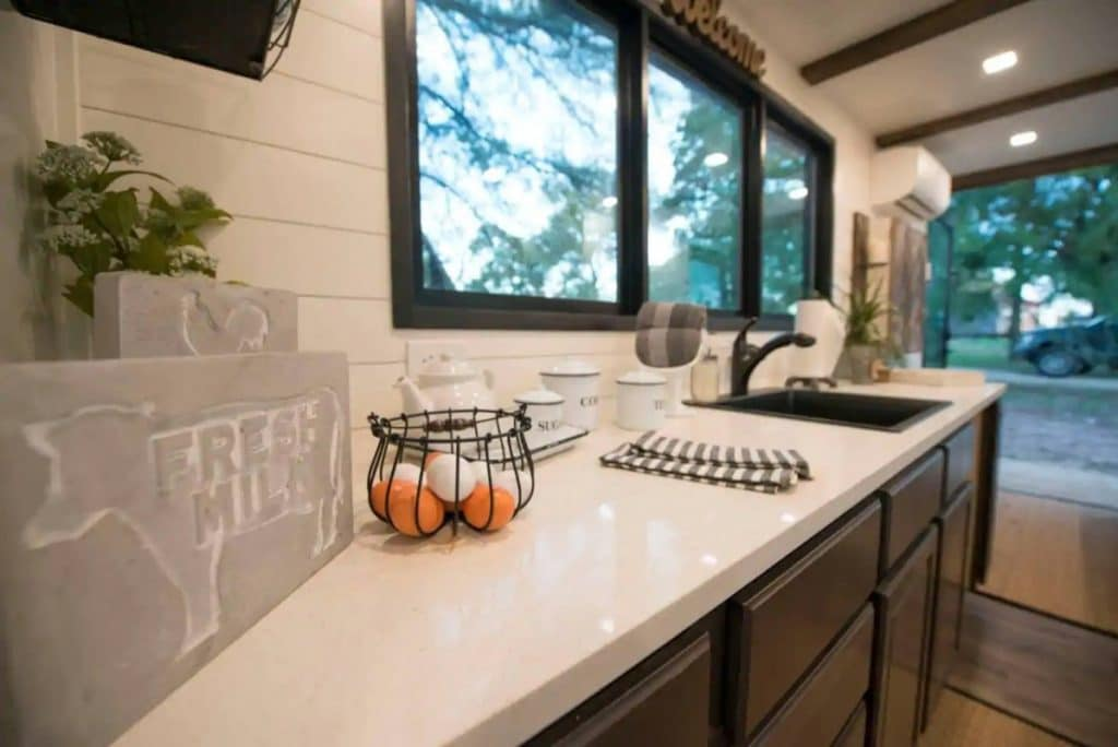 Tiny house kitchen counter