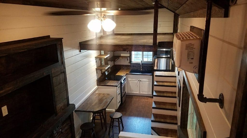 View from tiny house loft
