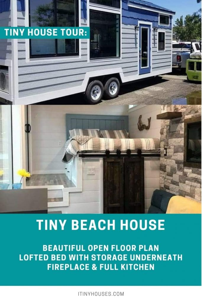 Tiny beach house collage
