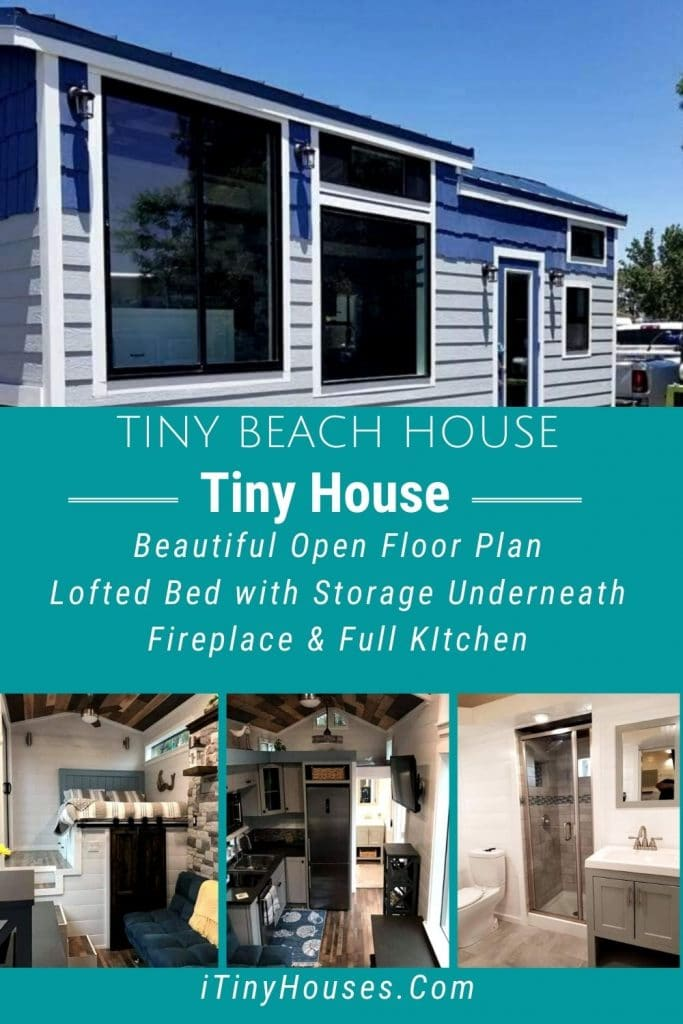 Tiny beach house collage