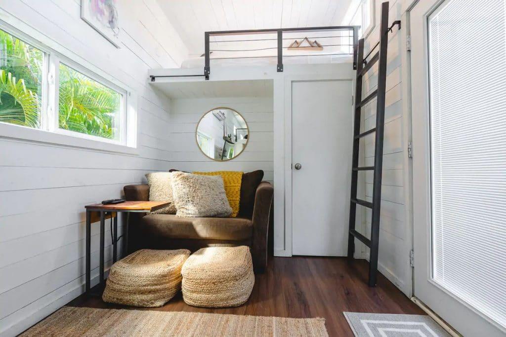 Living area by door