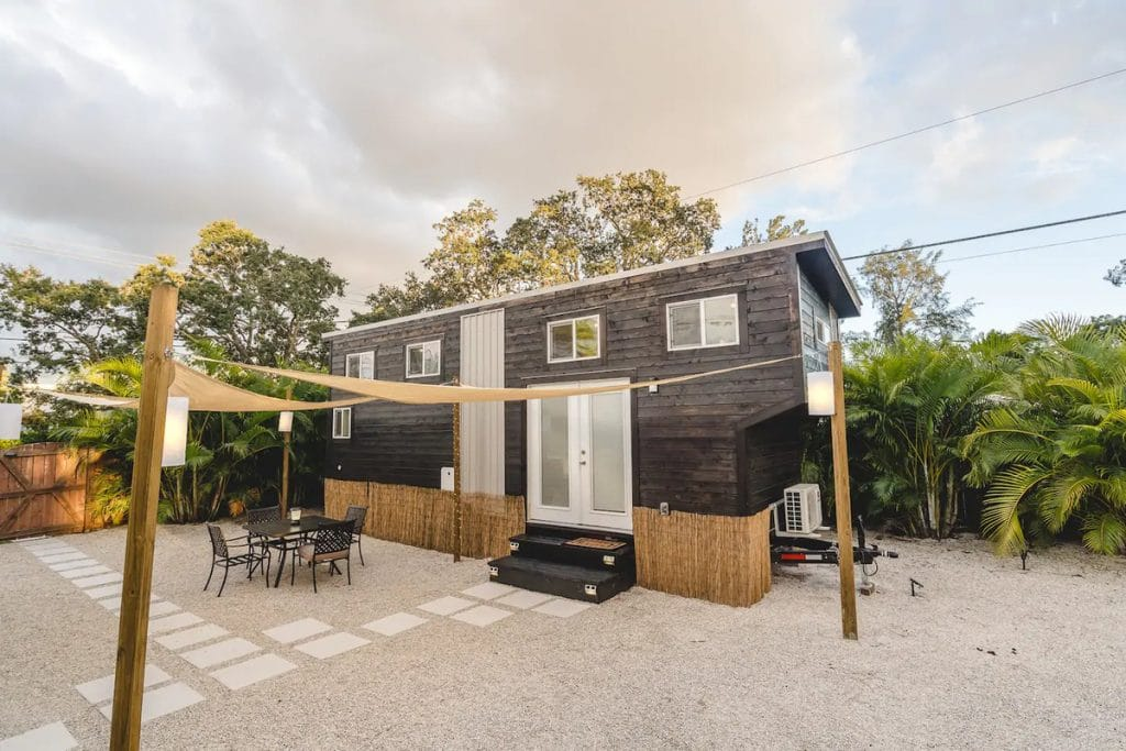 Tiny house with large beach