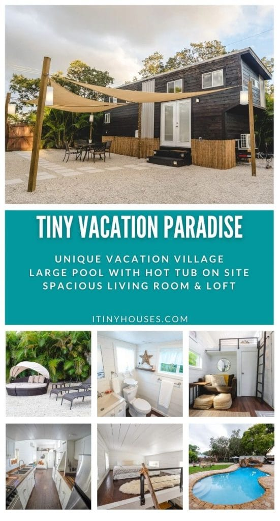 Tiny paradise vacation collage