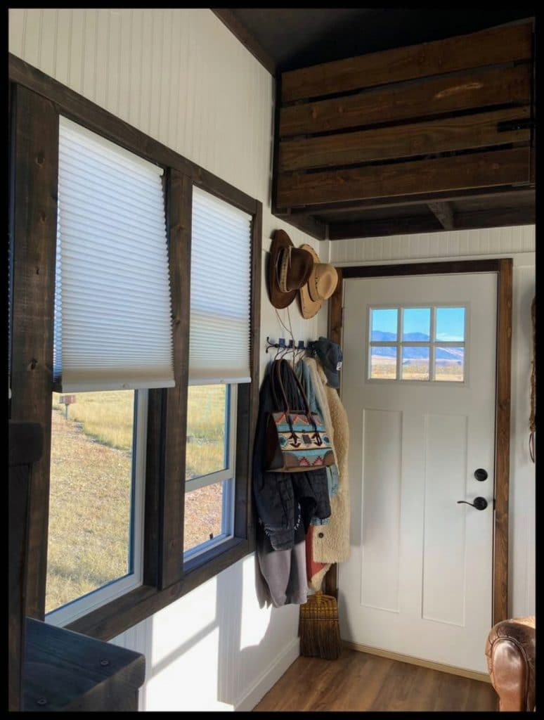 Tiny house living room windows