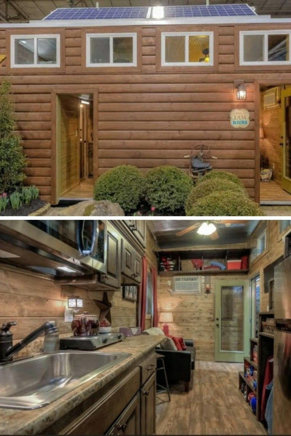 Rustic Log Cabin Shipping Container Home