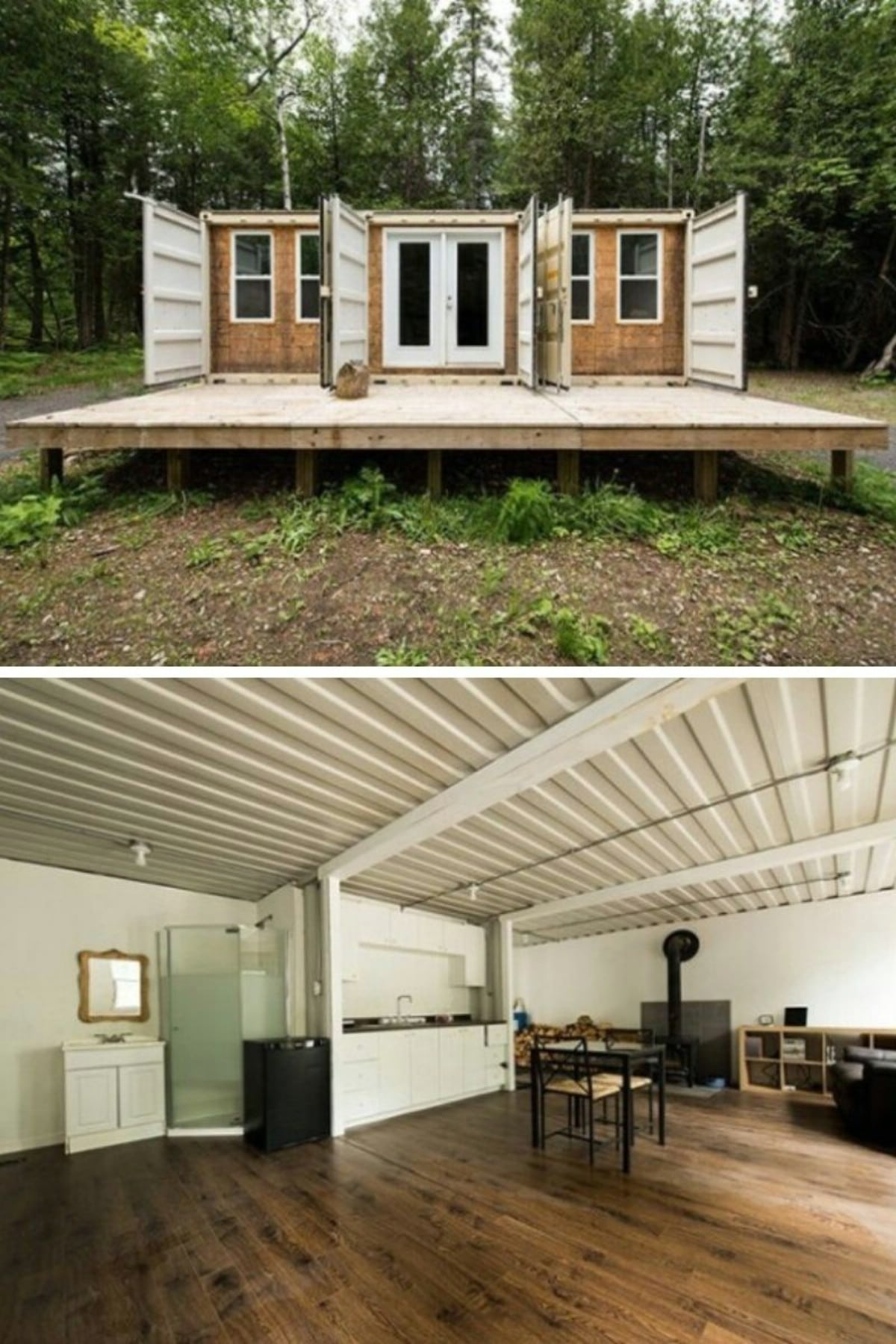 Triple Shipping Container Home