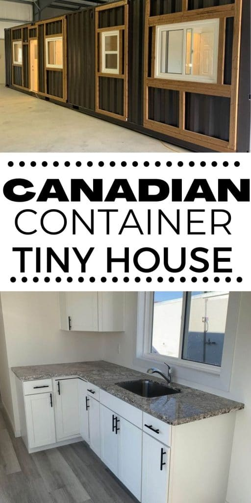 Canadian container home collage