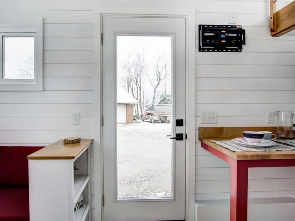 Door of tiny house