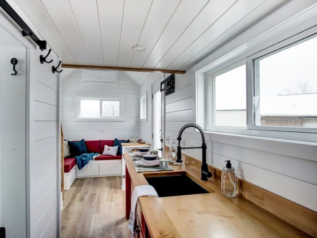 Kitchen counter in tiny house