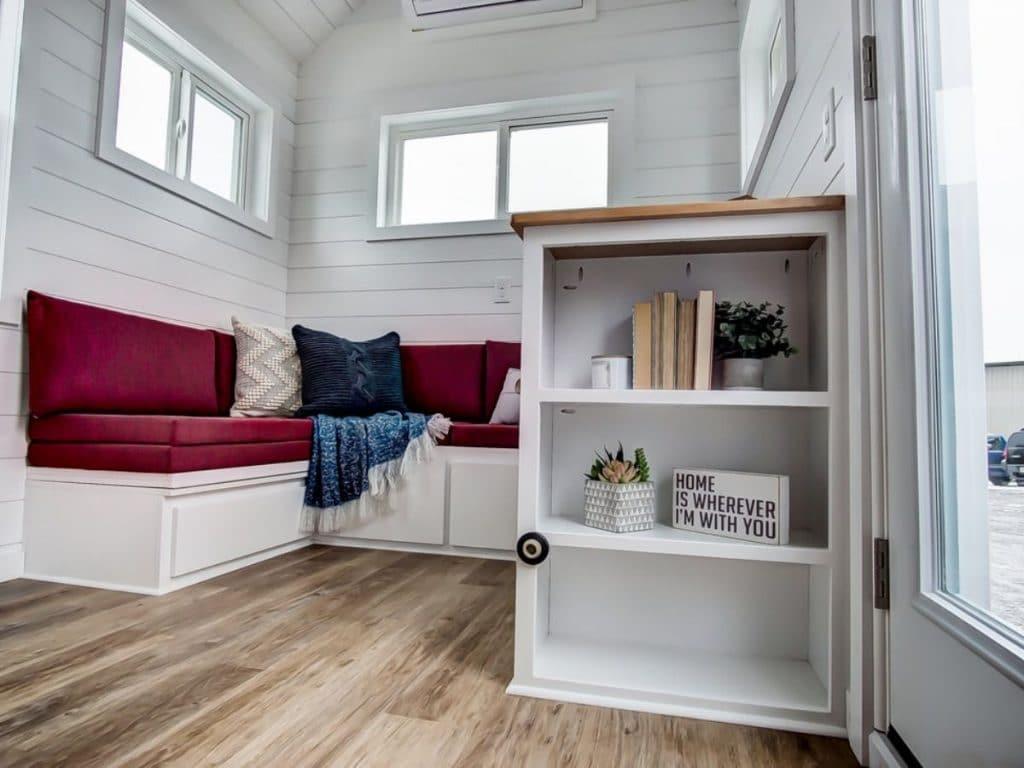 Shelf by door