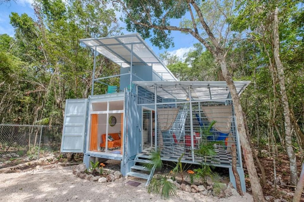 Front of off grid tiny house