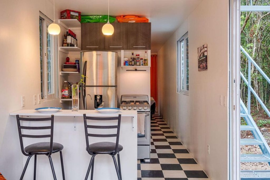 Mexican tiny house kitchen