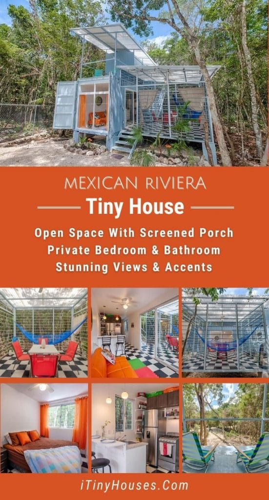 Mexican riviera tiny house collage