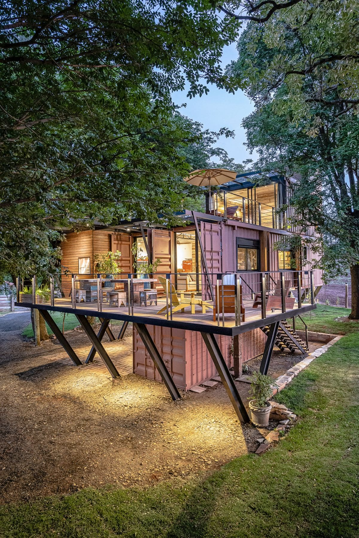 Shipping Container Treehouses