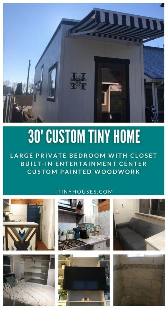 Custom tiny home collage