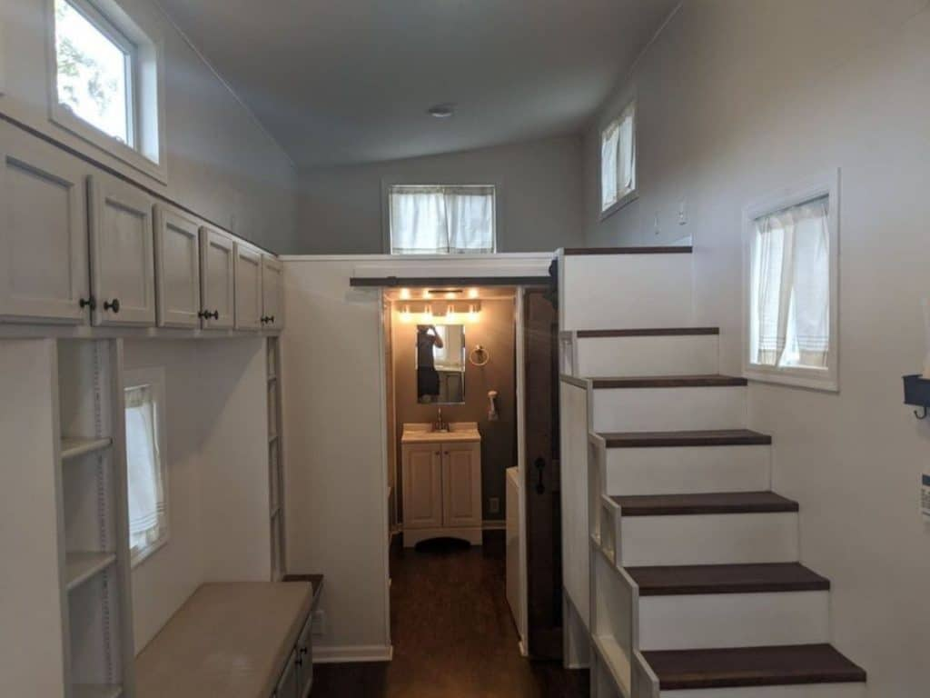 Tiny house stairs to loft