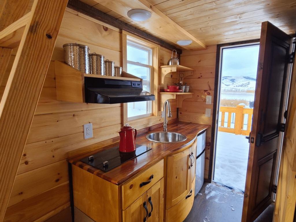 Wooden counter kitchen