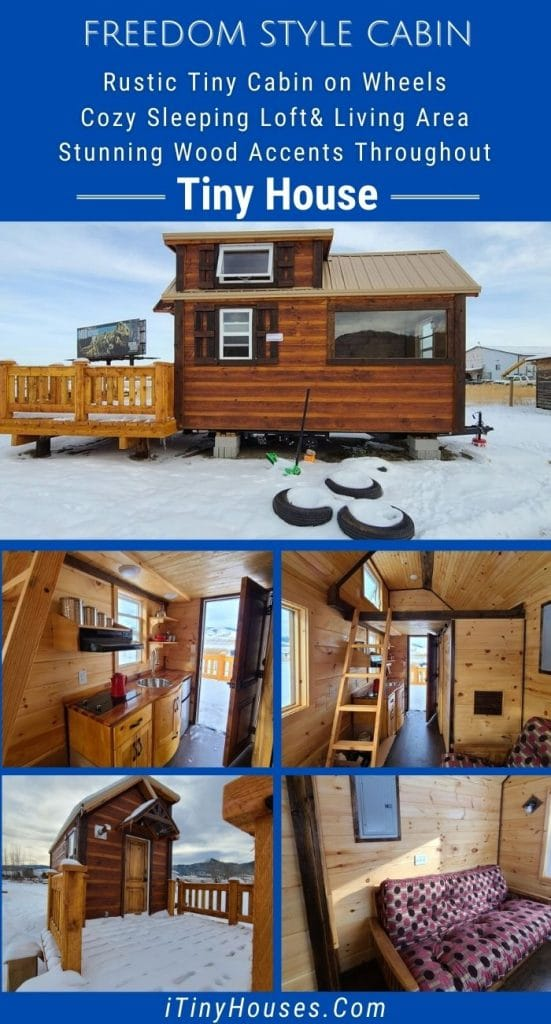 Freedom style tiny house collage