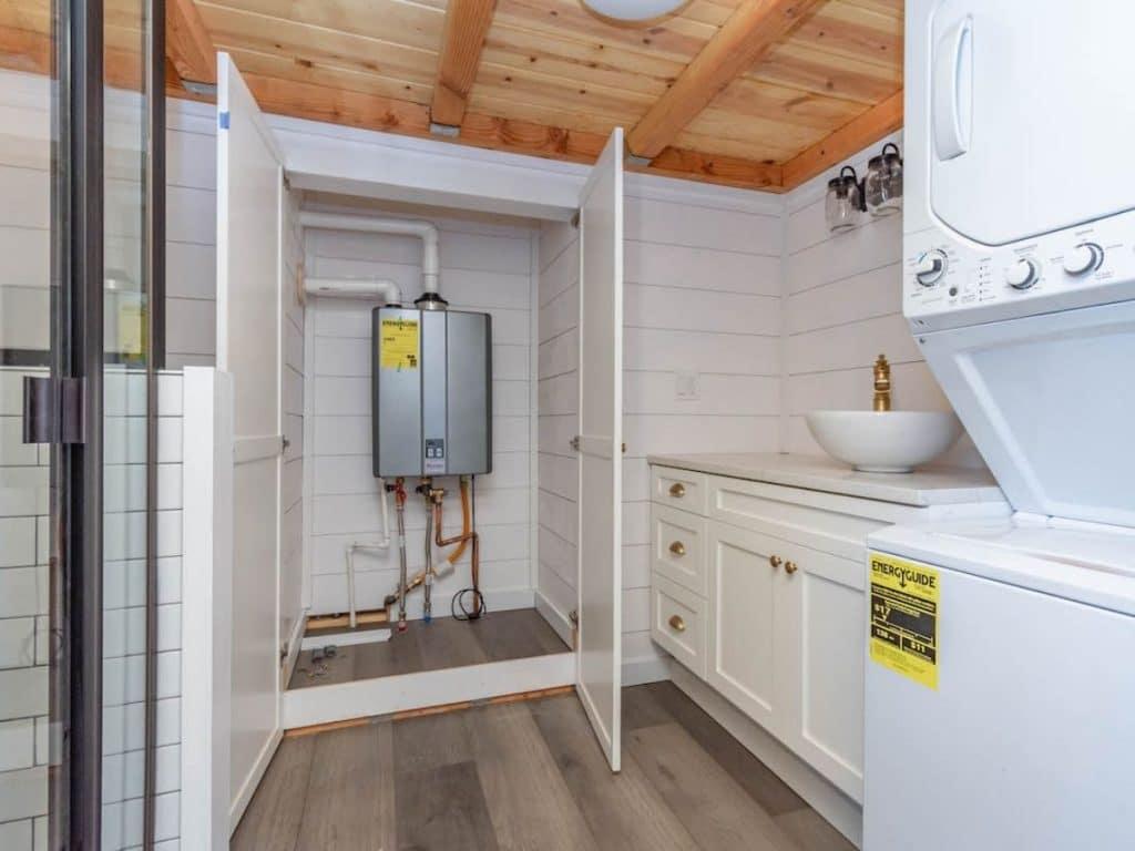 Open water heater closet